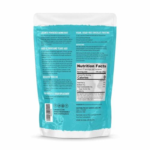 Lakanto Powdered Monkfruit Sweetener - 1:1 Powdered Sugar Substitute (1.76 lbs) Perspective: back