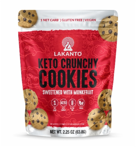 Lakanto Sugar Free Mini Chocolate Chip Cookies - Sweetened with Monkfruit (Pack of 6) Perspective: back