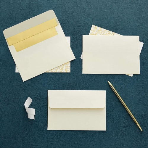 A4 Ivory Invitation Envelopes for Wedding, Birthday, Graduation (6x4 In, 50 Pack) Perspective: back