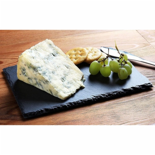 Mini Slate Cheese Boards 6PC Charcuterie Cheese and Meat Serving Board +3 Chalks Perspective: back