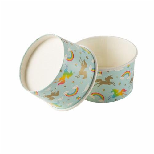Froyo Cups - 50-Piece Disposable Paper Dessert Ice Cream Sundae Yogurt Bowls Perspective: back