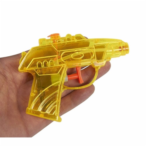 24 Pack Mini Plastic Water Squirt Guns Toys in Assorted Colors, for Kids Party, Ages 3 and Up Perspective: back