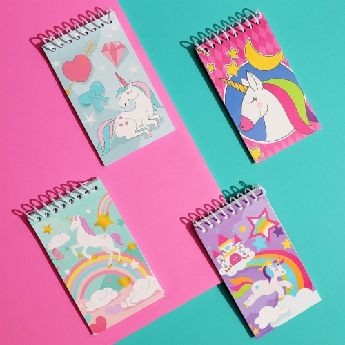 Mini Spiral Notepads, Unicorn Design (3 x 5 Inches, 24-Pack) Perspective: back