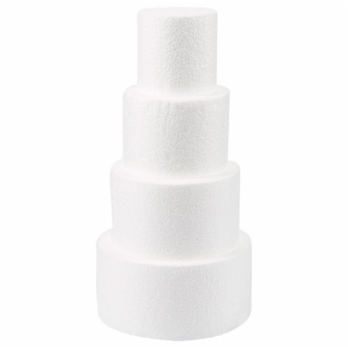 Cake Foam Dummies, 3-6 Inch Cake Dummy (12 Inches, 4 Pieces) Perspective: back