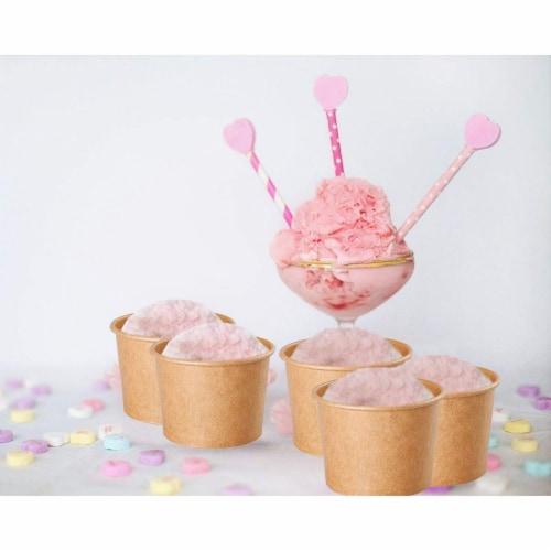 Ice Cream Sundae Cups - 100-Piece Disposable Kraft Paper Dessert Ice Cream Bowls Perspective: back