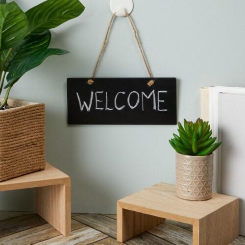 6-Pack Hanging Chalkboard Sign - Blackboard Message Board Reusable 10.25  x 5.8 Perspective: back