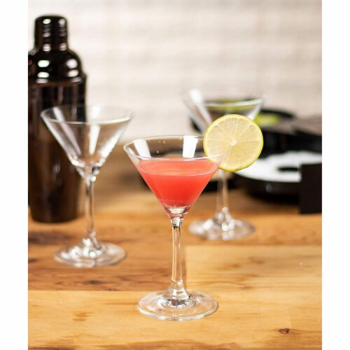 Martini Glasses - 6-Set Clear Classic 5-Ounce Cocktail Glasses, Inverted Cone Perspective: back