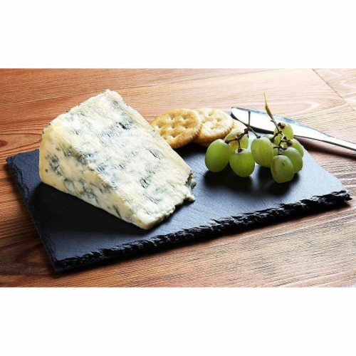 Slate Cheese Boards, Charcuterie Boards for Cheese and Meat (8 x 0.25 x 12 In, 6 Pc) Perspective: back