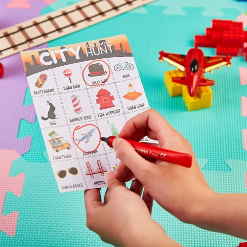 50x Metro City Scavenger Hunt Set for Kids Children Game Cards Birthday Party Perspective: back
