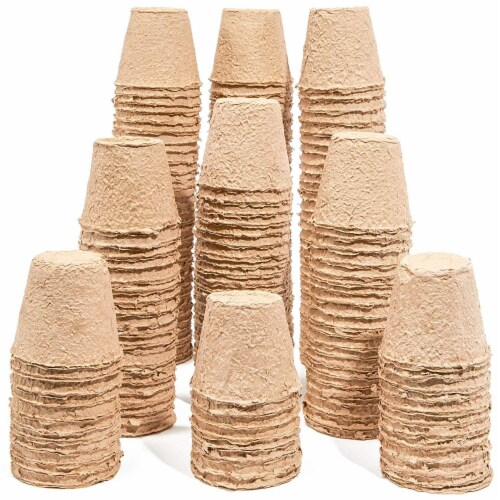 Juvale Peat Pots for Seedlings (192 Pack) Round, 3 Inches Perspective: back