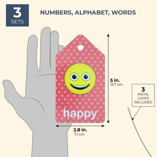 3-Pack First Words (Alphabet  Numbers) Flash Cards for Infants and Preschoolers Perspective: back