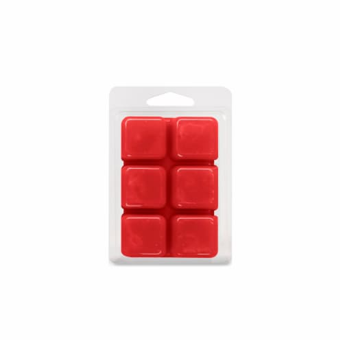 Oak & Rye Apple Cinnamon Scented Wax Cubes - Red Perspective: back