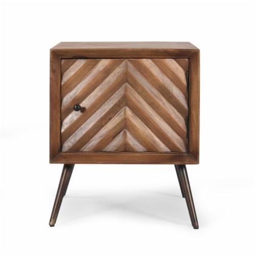 Xaviera Handcrafted Boho Mango Wood Cabinet Perspective: back