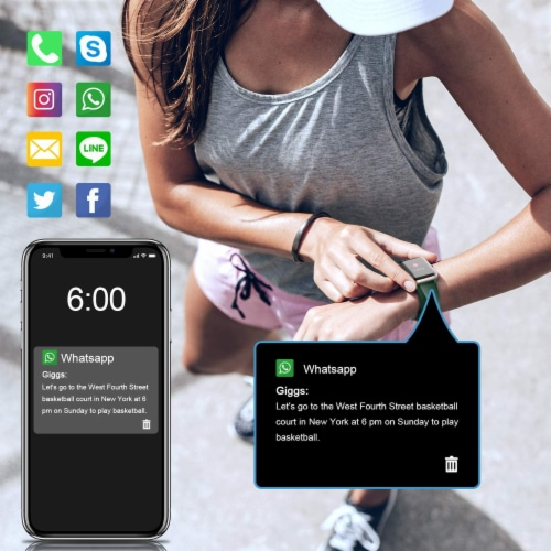 Letsfit ID205L Smartwatch Heart Rate & Activity Monitor - Emerald Perspective: back