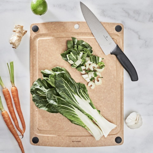Epicurean 505181301003 All-In-One Cutting Board 17.5 inch x 13 inch - Natural Perspective: back