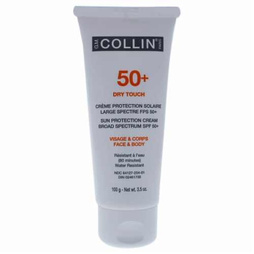 50 Plus Dry Touch Sun Protection Cream by G.M. Collin for Unisex - 3.5 oz Sunscreen Perspective: back