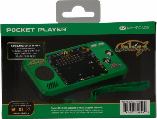 dreamGEAR My Arcade Galaga Pocket Player Perspective: back