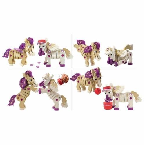 Bloco Toys Build-a-Friend Ponies Kit (191 Pieces) Perspective: back