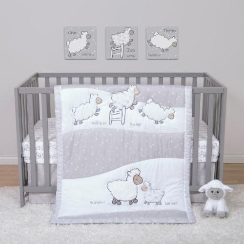 Sammy & Lou Sleepy Sheep Crib Bedding Set Perspective: back
