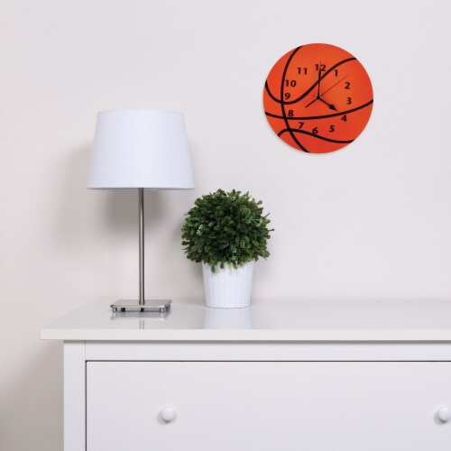 Trend Lab Basketball Wall Clock Perspective: back