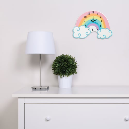Trend Lab Rainbow Wall Clock Perspective: back