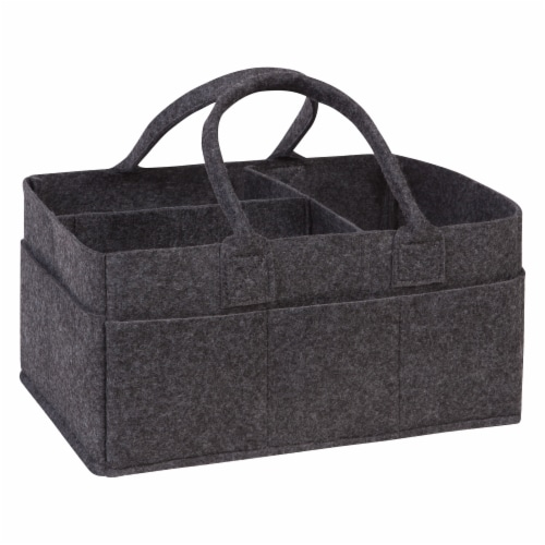 Sammy & Lou Charcoal Felt Caddy & Essential Tote Set Perspective: back