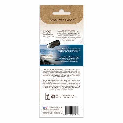 Enviroscent Coastal Storm Scent Auto Stick Air Fresheners - Blue Perspective: back