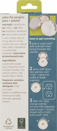 Enviroscent Plug Hub Spring Water and Lotus Scent Pod Kit Perspective: back
