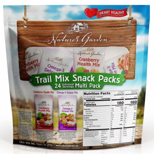 Nature's Garden Trail Mix Snack Packs Perspective: back