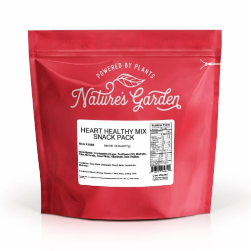 Nature's Garden Heart Healthy Mix Snack Packs Perspective: back