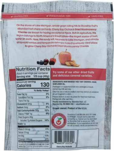 Cherry Bay Orchards® Dried Montmorency Cherries Perspective: back