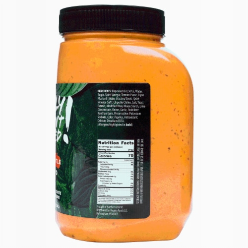 Only Plant Based Vegan Chipotle Mayonnaise, Food Service Size, 40 Fl Oz Perspective: back