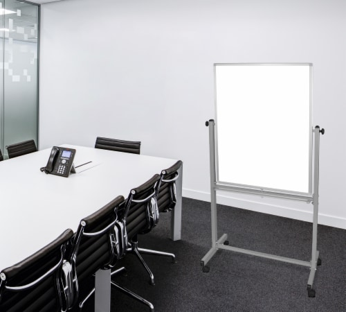 """Luxor 30""""W X 40""""H Double-Sided Magnetic Whiteboard - 1 Pack Perspective: back"""