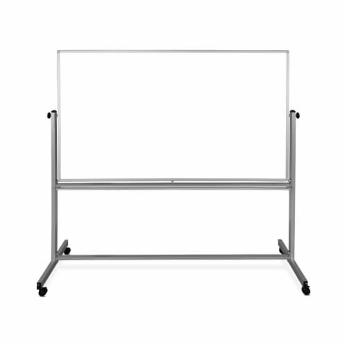 """Luxor 72""""x48"""" Double-Sided Mobile Magnetic Whiteboard Perspective: back"""