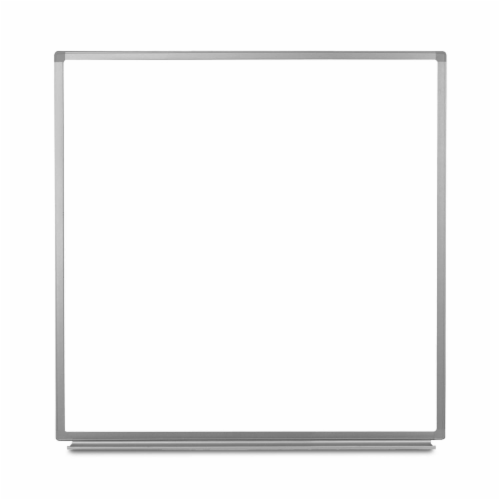 Luxor 48 W X 48 H Wall-Mounted Magnetic Whiteboard Perspective: back