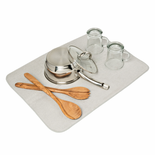 Honey Can Do Dish Drying Mat - Gray Perspective: back