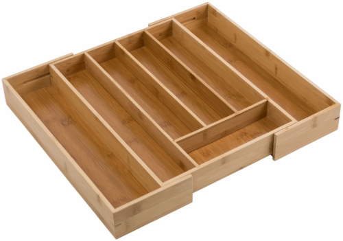 Honey Can Do Expandable Bamboo Tray - Brown Perspective: back