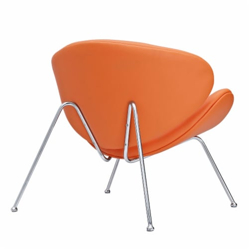 Nutshell Upholstered Vinyl Lounge Chair Perspective: back