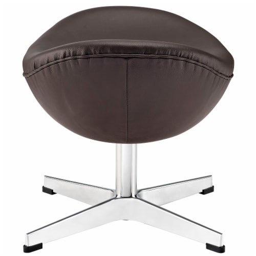 Glove Leather Ottoman - Brown Perspective: back