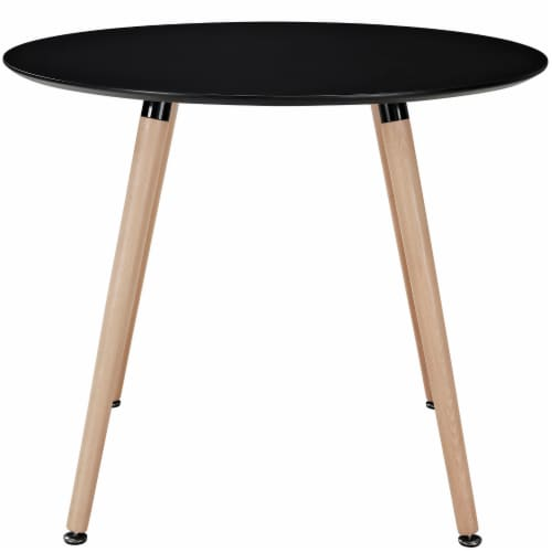 Track Round Dining Table - Black Perspective: back