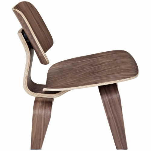 Fathom Wood Lounge Chair, EEI-510-WAL Perspective: back