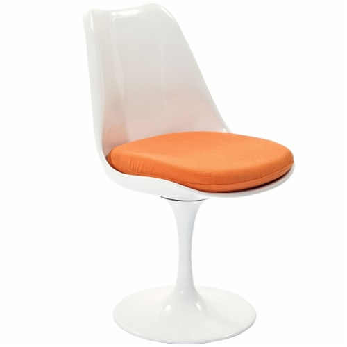 Lippa Dining Fabric Side Chair - Orange Perspective: back