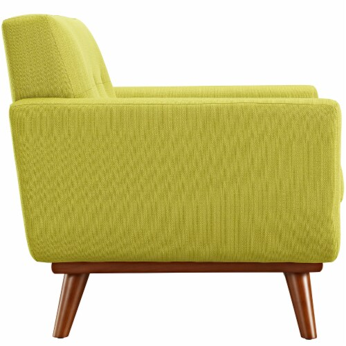 Engage Upholstered Fabric Armchair - Wheatgrass Perspective: back