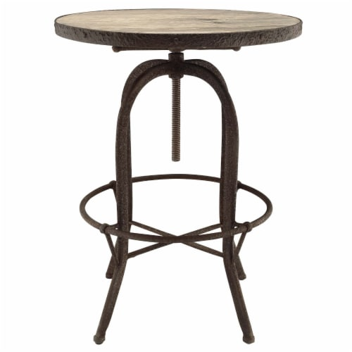 Sylvan Wood Top Bar Table - Brown Perspective: back