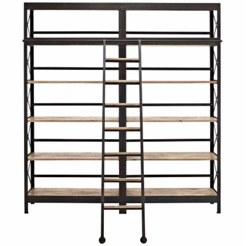Headway Wood Bookshelf - Brown Perspective: back