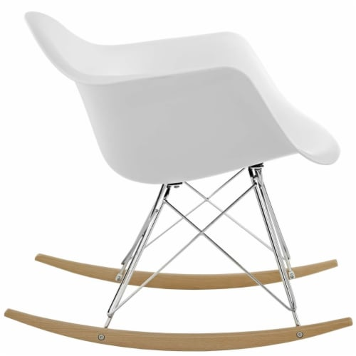 White Rocker Lounge Chair Perspective: back