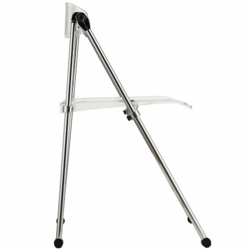 Telescope Folding Chair - Clear Perspective: back