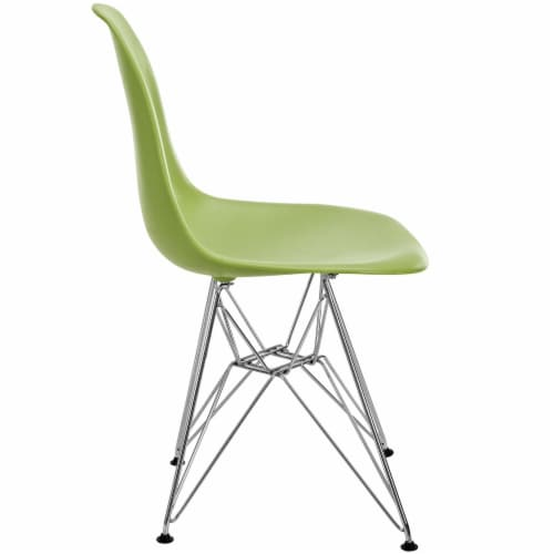 Paris Dining Side Chair - Green Perspective: back