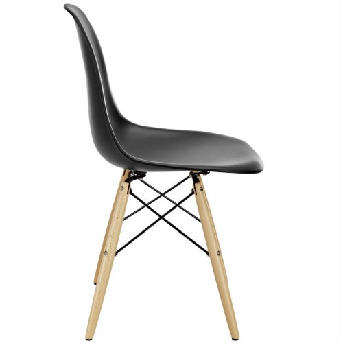 Pyramid Dining Side Chair - Black Perspective: back