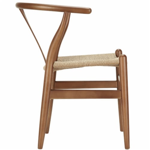 Amish Dining Wood Armchair - Walnut Perspective: back